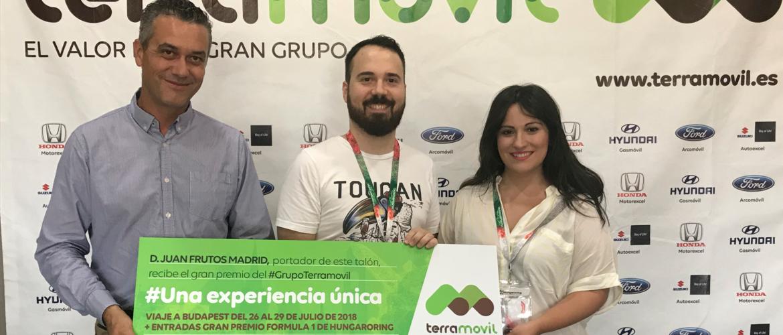 Entrega del talón y viaje al Gran Premio de Hungría de F1 a los ganadores del concurso #Terramovil