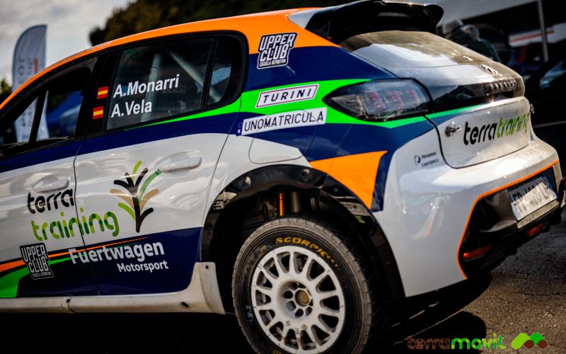 Podium para Alberto Monarri y Ángel Vela en su primera carrera en la Peugeot Rally Cup Ibérica